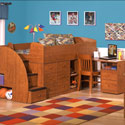 Captains Sleep & Study Bed, Childrens Loft Beds | Girls Loft Bed With Desk | ABaby.com