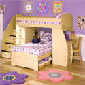 Sierra Day and Night Loft Bed, Childrens Loft Beds | Girls Loft Bed With Desk | ABaby.com