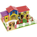 Malvern Stables Play Set, Doll Houses | Playsets | Kids Doll Houses | ABaby.com