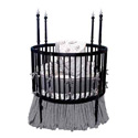 Sophistication Black Round Crib, Round Cribs for Babies | Circular Crib | Unique | Nursery