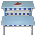 Sailboat Two Step Stool, Personalized Kids Step Stools | Step Stools for Toddlers | ABaby.com