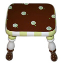 Chocolate Mint Swirls Stool, Personalized Kids Step Stools | Step Stools for Toddlers | ABaby.com