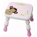 Pink Monkey'n Around Stool, African Safari Themed Nursery | African Safari Bedding | ABaby.com