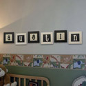 Custom Square Framed Letters, Basic Kids Wall Letters | Wall Letters For Nursery | ABaby.com