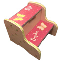 Hot Pink Butterfly Garden Step Stool, Personalized Step Stool for Toddlers | Kids | Small | aBaby.com