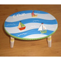 Personalized Sailboat Step Stool