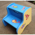 Personalized Gone Fishing Step Stool, Tropical Sea Themed Nursery | Tropical Sea Bedding | ABaby.com