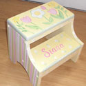 Growing Tulip Two Step Stool, Personalized Kids Step Stools | Step Stools for Toddlers | ABaby.com