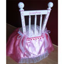 Personalized Fuschia Princess Chair