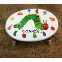 The Very Hungry Caterpillar Oval Stool, Personalized Kids Step Stools | Step Stools for Toddlers | ABaby.com