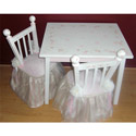 Stripe Princess Table and Chair Set
