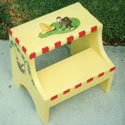 Curious George Step Stool, Personalized Kids Step Stools | Step Stools for Toddlers | ABaby.com
