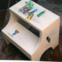 Madeline in Town Step Stool, Personalized Kids Step Stools | Step Stools for Toddlers | ABaby.com