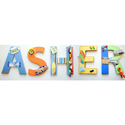 Asher's Surfing Wall Letters, Kids Wall Letters | Custom Wall Letters | Wall Letters For Nursery