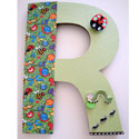 Cute Critters 3D Wall Letter