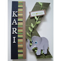 Elephant Jungle Wall Letter