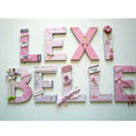 Lexi Belle Ballerina Wall Letters, Customized Wall Letters | Childrens Wall Letters | ABaby.com