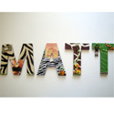 Matt's Jungle 3D Wall Letters, African Safari Themed Nursery | African Safari Bedding | ABaby.com