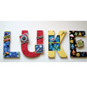 Luke's Outer Space Wall Letters,
