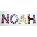 Noah's Jungle Wall Letters, Kids Wall Letters | Custom Wall Letters | Wall Letters For Nursery