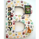 B Paw Doggy 3D Letter, Customized Wall Letters | Childrens Wall Letters | ABaby.com