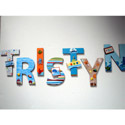 Tristyn's Tropical Sea Life Wall Letters,