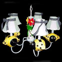 Bumble Bee Chandelier, Frogs And Bugs Nursery Decor | Frogs And Bugs Wall Decals | ABaby.com
