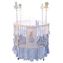Bunny Round Baby Crib, Nursery Rhymes Themed Nursery | Nursery Rhymes Bedding | ABaby.com