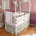 Bunny Rabbit Iron Crib, Bunnies Themed Nursery | Bunnies And Bears Bedding | ABaby.com