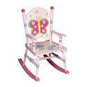 Children's Butterfly Rocker, Kids Chairs | Personalized Kids Chairs | Comfy | ABaby.com