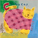 C Is For Cat Stretched Art, Girls Wall Art | Artwork For Girls Room | ABaby.com