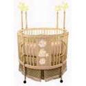 Twinkle Star Sage Round Crib Bedding