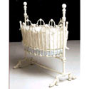 Scalloped Baby Cradle, Iron Bassinet | Iron Cradle | ABaby.com