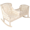 Patricia Cradle Rocker, Wooden Bassinet | Antique Cradles | ABaby.com