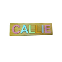 Personalized Wooden Name Puzzle Toy - Callie Name in Pastel
