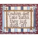 Cowboys Dust Off Wall Art, Wild West, Western, Cowboy Themed Furniture, Decor For Childrens Rooms and Baby's Nursery.