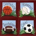 Boys' Sports Theme Artwork, Wall Art Collection | Wall Art Sets | ABaby.com