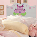 Handpainted Castle Twin Headboard, Princess Themed Nursery | Girls Princess Bedding | ABaby.com