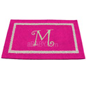 Double Border Initial Rug, Novelty Rugs | Cheap Personalized Area Rugs | ABaby.com