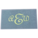 Rectangle Monogram Rug, Novelty Rugs | Cheap Personalized Area Rugs | ABaby.com