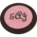 Bordered Round Monogram Rug, Novelty Rugs | Cheap Personalized Area Rugs | ABaby.com