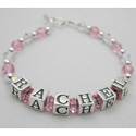 Crystal Beads Name Bracelet