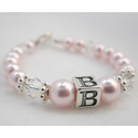 Swarovski Pearl Initial Bracelet, Personalized Jewelry Box For Baby Girl from Ababy.com