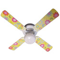 Flower Power Butterflies Ceiling Fan, Ceiling fans for kids | childrens ceiling fans | ABaby.com