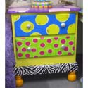Funky Two Drawer Night Stand, Kids Night Tables | Toddler Night Stand | ABaby.com