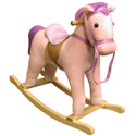 Pink Pinto Horse Rocker, Kids Rocking Horse | Personalized Rocking Horses | ABaby.com