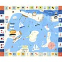 Charting a Course Stretched Art, Nautical Themed Nursery | Nautical Bedding | ABaby.com