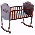Chloe Rocking Cradle, Wooden Bassinet | Antique Cradles | ABaby.com