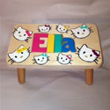 Personalized Kitty Cat 1 Name Puzzle Stool