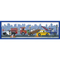 City Vehicles Banner, Canvas Artwork | Kids Canvas Wall Art | ABaby.com